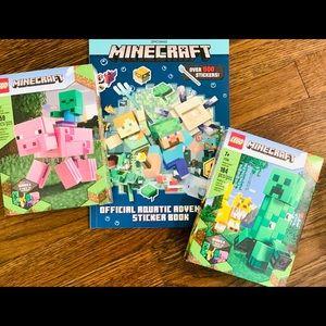 MineCraft Legos and Sticker Book